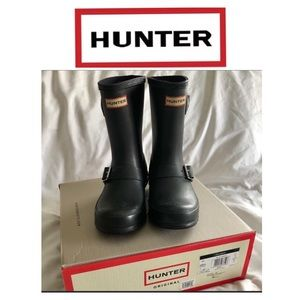 Kids black Hunter Biker boots. Size 13B/1G